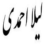 شعری از لیلا احمدی